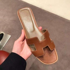 Delivery French new Lian fashion summer slippers women's leather thick and comfortable shoes Hococal high heel sandals size 36-40