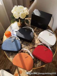 Die neue echtes Leder-Schulter getragen Frauen Eimer Taschen Frauen-Handtasche Fashion Mini Designer-Taschen-Querkorn Crescent Paket Geldbeutel