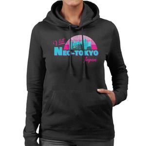 Visita Neo Tokyo Japão das mulheres com capuz Sweatshirtunisex homens mulheres camisola do hoodie