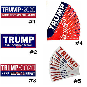 Donald Trump 2020 Car Stickers 7.6*22.9cm Bumper Sticker Keep Make America Great Decal Outdoor Accs Cheerleading Sticker CCA11851 1000pcs