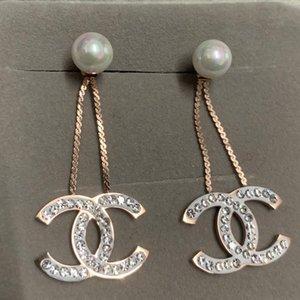 Yüksek kaliteli, tam elmas mektup yuvarlak damızlık Küpe 316L paslanmaz çelik 18k altın gümüş Kadınlar kızlar düğün takı fabrikası wholesal gül
