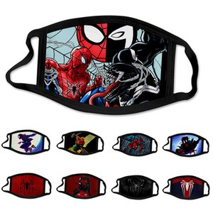 Cotton Face Mask Reusable and Washable Kids Adult Face Mask Print Super Hero Spider Man Anti PM2.5 Haze Dustproof Protective Mask