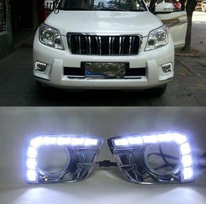 2 Adet LED DRL Gündüz Koşu Işık Sis Lambası Deliği ile Toyota Prado FJ150 LC150 2010 2011 2012 2013 Land Cruiser