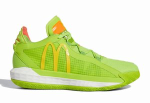 McDonald Dame 6 Venda Hoops Collection With Box Damian Lillard 6 Homens tênis de basquete US7-US11.5