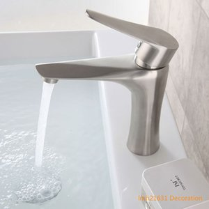 304 Stainless Steel Bathroom Basin Mixer Faucets Hot and Cold Single Handle Sink Faucet Hotel Balcony Outdoor Hot and Cold Brush Nickel Tap