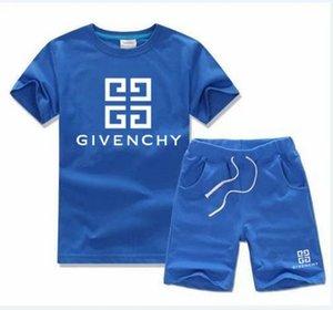 Bebê meninos e meninas designer de t-shirt e calções terno marca fatos de treino 2 crianças conjunto de roupas venda quente moda verão infantil t52468