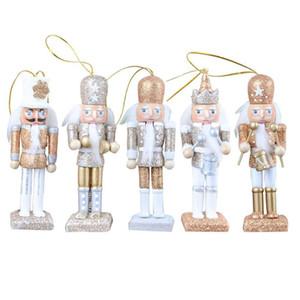 5 pièces / Set Casse-Noisette Puppet New 12CM Glitter classique Casse-Noisette Puppet Pendentif anniversaire cadeau de mariage