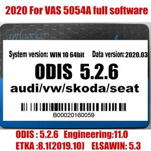 2020 Vas 5054A Odis 5.2.6 del software con Engineering 11.0 / EKA 8.1 / 5.3 Elawin VAS 6154 360GB SSD per AUDI / V-W GEKO linea di codifica login