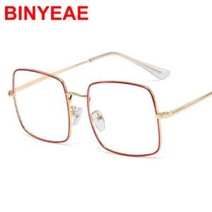 패션 금속 사각형 안경 프레임 여성 트렌드 브랜드 디자이너 광학 컴퓨터 안경 oculos de sol 클리어 렌즈 고급 안경