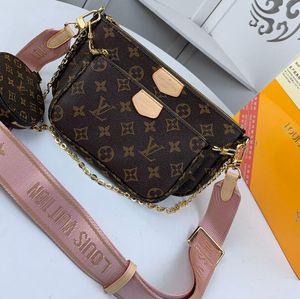 Сумки бренда MULTI Pochette ACCESSOIRES 2020new Мода женщины Малый сумка на ремне, бренд цепи Crossbody сумка дизайнер роскошных сумки кошельки
