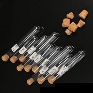 Tubo de ensaio de plástico com 1000pcs Rolha 7 ml 10 ml 12 ml 15 ml 20 ml 25 ml 30 ml 50 ml Lab Supplie 20cc Limpar plástica cosmética Tubo