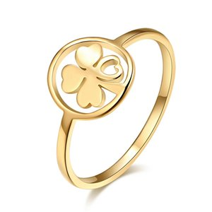 CACANA High Polished Stainless Steel Clover Ring For Women Love Engagemen Wedding Rings Anillos Mujer Bague Femme Jewelry W35