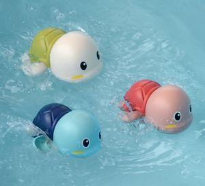 참신 귀여운 만화 동물 거북이 클래식 아기 물 장난감 유아 수영 거북이 상처 업 체인 시계 키즈 비치 목욕 장난감