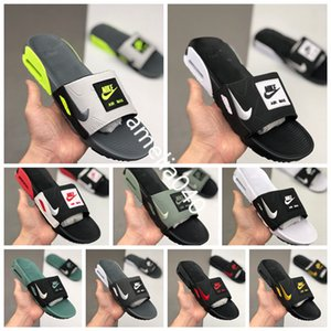 2020 New Nike air max 90 Slide Smoke Grey Volt Black White Rose Cool Grey Men Women Camden airmax 90 90s sandals White Black Home Casual Shoes 0FHLS72 Size 36-44