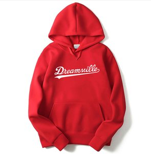 Free shipping Men Dreamville J. COLE Sweatshirts Autumn Spring Hooded Hoodies Hip Hop Casual Pullovers Tops Clothing
