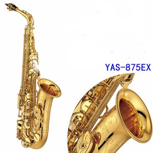 ouro profissional sax alto de alta qualidade frete grátis 875EX jogo instrumento YAS-875EX Alto Saxophone eletroforese