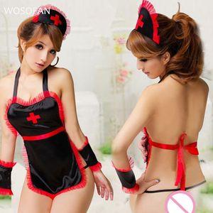 femmes Intimates Half Glissades Sling Bow Chemise de nuit de sommeil exotique Lingerie Tops Perspective cosplay robe tablier nuit