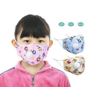 Çocuklar Pamuk filtre Vana maskesi Anti toz kullanımlık Anti Pus çocuk Pm2. 5 filtre maskesi ağız maskesi OOA7789