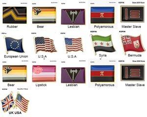 10 Adet Gurur Rozeti Biseksüel Panseksüel Broş Lezbiyen Gurur Pin Bayrak LGBTQ Eşcinsel Bayrak Yaka Pin