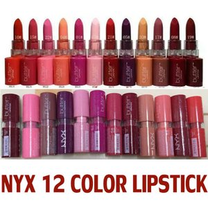 NYX Lip Makeup Butter Lipstick Round Tube Butter matte Lipstick 12 color blend free ship
