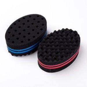 1 Adet Oval Çift Taraf Afro Dalga Sihirli Saç Büküm Braiders Dreads Büküm Kilitler Dreadlocks Curl Fırça Sünger Araçları