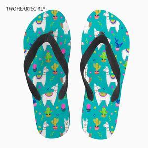 Twoheartsgirl Alpaka Çevirme Yaz Terlik Kadınlar için Plaj Slaytlar Terlik Ayakkabı Kadın Zapatillas de playa Chinelos de praia