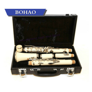 Clarinet ABS 17 Key bB Binocular Clarinet with Cleaning Cloth Gloves Woodwind Instrument