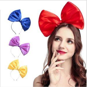 Fashion Large Bowknot Hair Hoop Pure Color Big Bow Cloth Headband Girl Travel Hair Hoop Women Party Hair Accessories