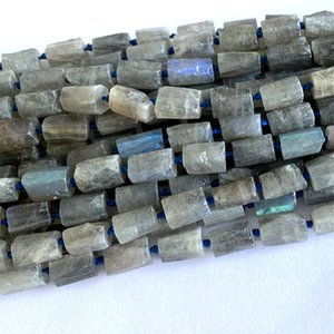 Natural Genuine Raw Mineral Gray Flash blue right Labradorite Nugget Free Form Loose Rough Matte Faceted Necklace Bracelet Jewelry Beads 063