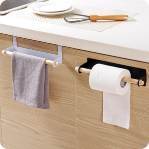 Bath Kitchen Towel Racks High Quality Hanging Towel Rack Rolls Paper Towels Organizer Holder Bathroom Cabinet Cupboard Hanger DBC BH3482