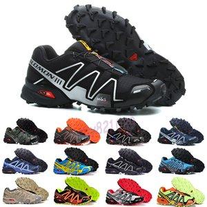 salomon speedcross 3 4 2019 Shoes zapatos hombre velocidade Cruz 3CS III Esporte Sneakers Homens Pretos ao ar livre atlético SpeedCross Solomon tênis de corrida 40-46 G52