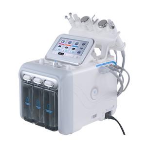 6 في 1 H2-O2 الحيوي الترددات اللاسلكية البرد المطرقة المائية اللوازم الطبية المياه هيدرا سبا جلدي في الوجه مسام الجلد آلة التنظيف