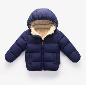 Boys cotton coat children's winter coat cotton clothing plus velvet thick warm cotton jacket multi-color size 80cm-120cm FC358