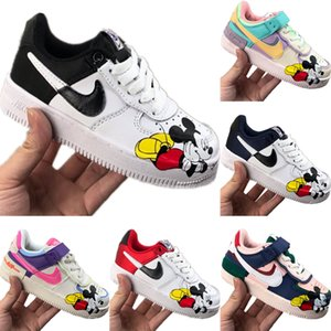 2020 AF1 Kids Candy Low-Cut Skateboard Shoes Original AF1 Low-Top Kids Built-in Zoom Air Cushioning Sports Shoes