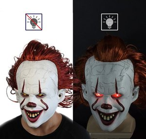 Máscara de Halloween de TI Stephen King JOKER Pennywise PALHAÇO TI COSPLAY 2019 em LaTeX