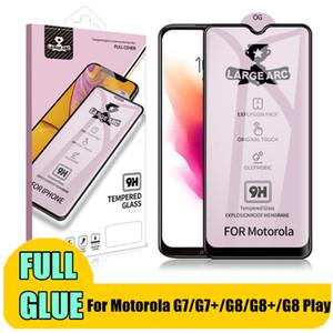 Completa Colla vetro temperato Moto E6 Inoltre G8 del pannello LCD vetro protezione per Motorola Moto G8 Inoltre G8 del G7 G7 Gioca copertina G7 Full Power Glass Film