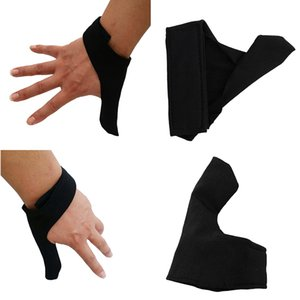 2 Couont Reversible & Comfortable Bowling Thumb Saver Protector, Universal for Both Right Hand & Left Hand for Women and Men - Black