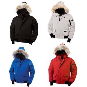 Canada Hommes Manteau E01 capuchon Down Veste courte Veste Tide Épaississement hiver coupe-vent froid DHL Livraison gratuite Pure Color Loisirs