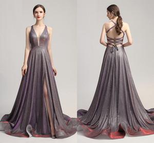 2020 новый Ensotek женские градиентные вечерние платья блестки V шеи крест назад контрастный цвет вечернее платье формальное платье выпускного вечера