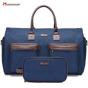 Modoker New Garment Travel Bag with Shoulder Strap Duffel Bag Carry on Hanging Suitcase Clothing Business Bag Multiple Pockets CJ191212