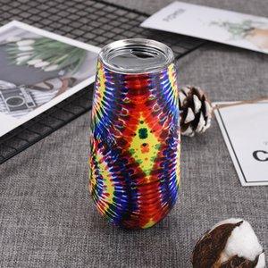 vaso de acero inoxidable con tapa 6 oz flauta vacío sin pie Champagne Cristal Vaso de doble pared con aislamiento de viajes vaso al aire libre taza del vino