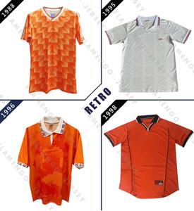 Niederlande 1988 95 96 98 Fußball-Jersey-Retro Marco Van Basten Jersey 96 Gullit 98 Voetbal Hemd Seedorf Bergkamp Vintage-Fußball