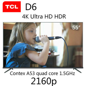 TCL 55D6 55 pollici 4K Ultra Full HD HDR Eco 30 Core Spedizione Android Smart Smart TV DHL