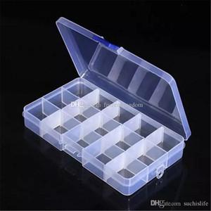 Ajustável Compact 15 Box armazenamento caso Ferramenta Container Grids Compartimento Plástico Jóias Brinco minúsculo Coisas Caixas Contentores 2017091013