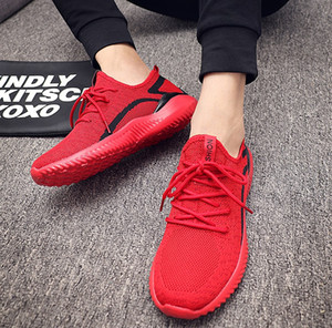Été Souliers simple d'homme Mode Lace Up Big Taille Plus Couple unisexe Baskets Chaussures Homme Chaussures Hommes Mesh Chaussures