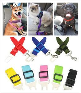 Dog Pet Car Seat ceinture de sécurité Harnais de retenue Leash Laisse réglable Voyage clip chiens fournitures Accessoires