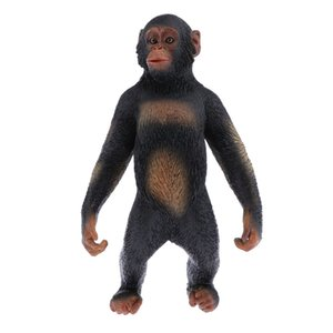 Animal Toys Set - Standing Gorilla Figurines, Educational Resources Animals Figures for Toddler Gifts Party Supplies