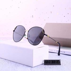 Hochwertige klassisches Pilot Sonnenbrille Marke Männer Frauen Sun-Glas-tom Brillen Gold Metal Glaslinsen Original Case Tasche # 72010