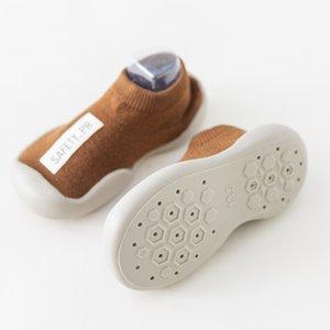 Baby-Socke Schuhe Jungen-Mädchen-Mode-Kleinkind-Schuhe Newborn reizende Kind-Anti-Rutsch-Gummisohlen Socken