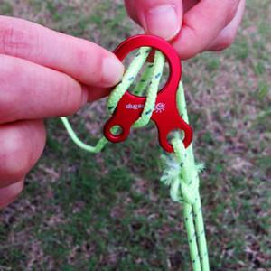 Quick Knot Wind Rope Многофункциональная пряжка Противоскользящая походная походная палатка Шнур Веревка Крепежная веревка Бегунок Карабин Крючок для палаток